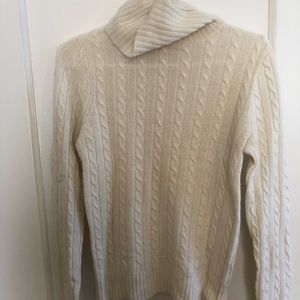 Two J Crew CableKnit Turtleneck Sweaters.